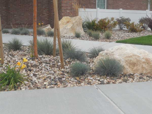 Crestwood Mix with Butterstone Boulder