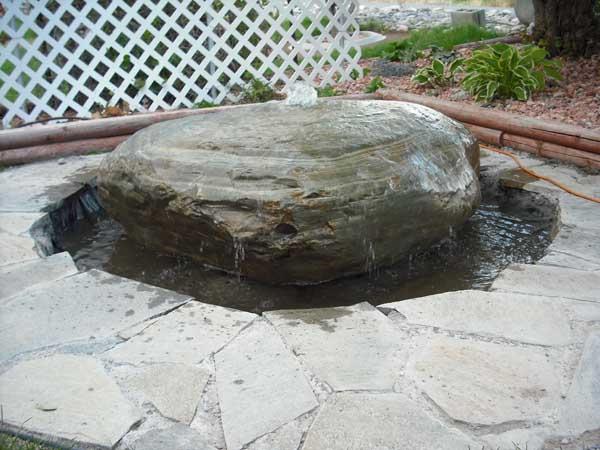Brownstone Boulder Fountain
