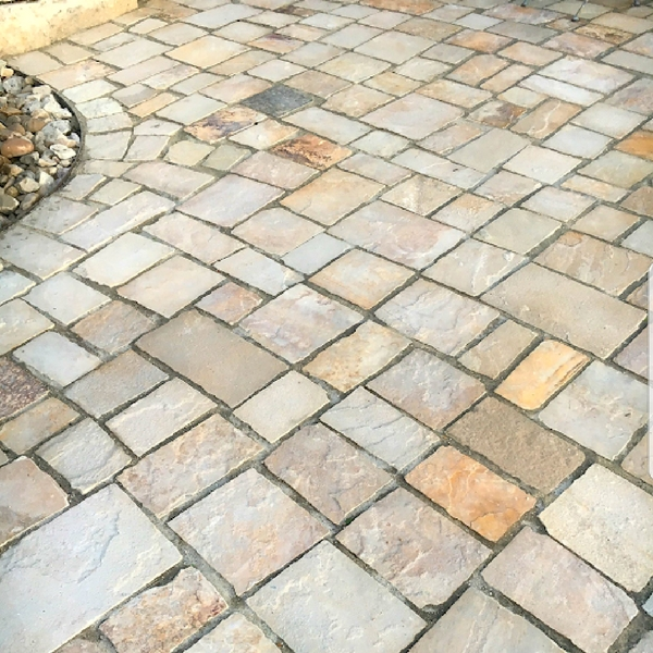 Chopped Butterstone Pavers