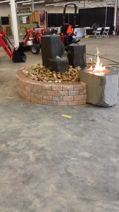 Basalt Water and Fire Feature 2014