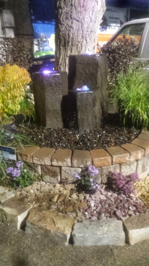 Basalt Water Feature with LED Lights 2014